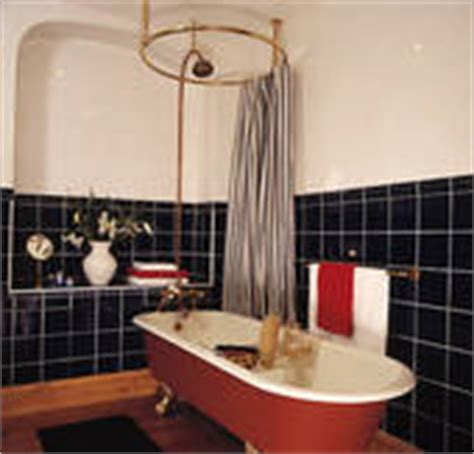 Shower Rail For Roll Top Bath by Stock Photography Of Tile Shower And White Shower Curtain