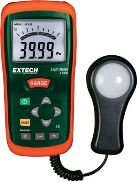 how to measure light extech lt300 light meter measures light intensity up to