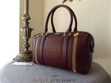 mubaury tasha mulberry tasha in oxblood shrunken calf leather sold