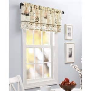 Lighthouse Kitchen Curtains Better Homes And Gardens Nautical Kitchen Curtain Tier Set Or Valance Walmart