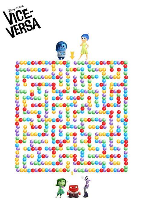 Coloriages Et Printables Inside Out Vice Versa Coloriage Disney Pixar L