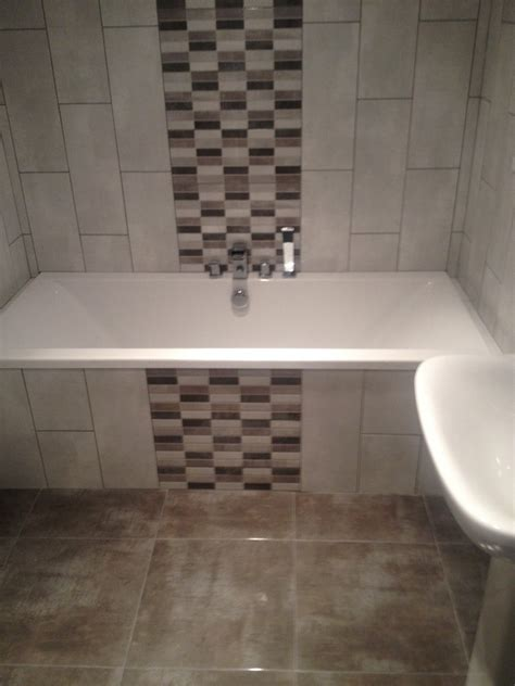 feature tiles bathroom ideas mosaic tiles on bath panel google search home ideas
