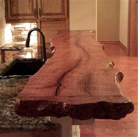 Wood Slab Bar Top by Mesquite Countertops Mesquite Hardwood Countertops