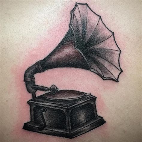 phonograph tattoo phonograph by pineapple tattoonow