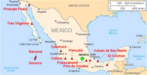 map of western mexico trans mexican volcanic belt