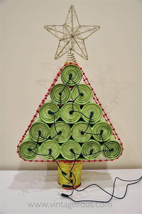 como hacer decoracion navide a diy arbol de navidad con latas recicladas manualidades