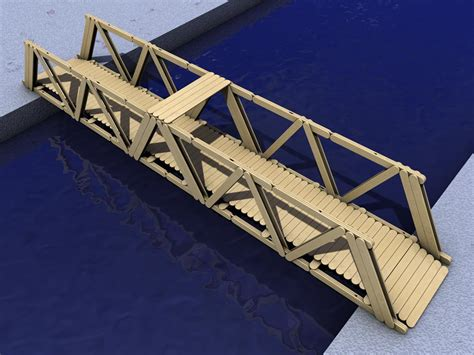 Setelan Paddle Helo Word Size 4 popsicle stick bridge 3d at home