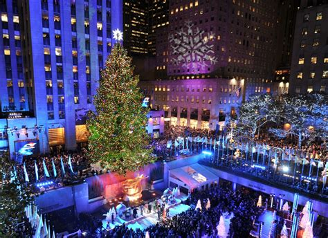 christmas trees jersey city rockefeller center tree lighting 2012 new jersey spruce lights up manhattan new