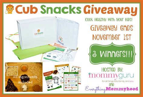 Subscription Giveaway - cub snacks monthly subscription box giveaway 3 winners 11