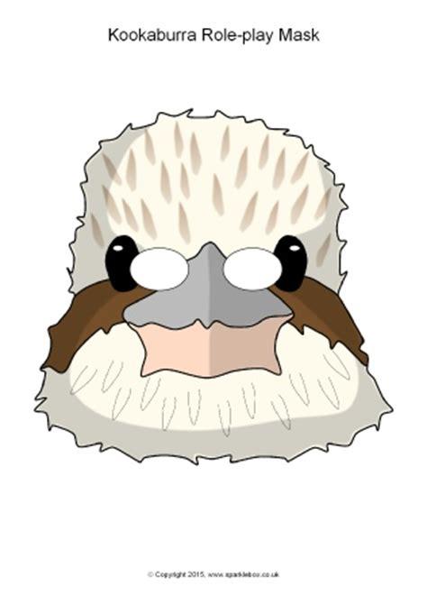 emu mask template printable kookaburra role play masks sb11184 sparklebox