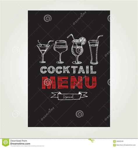 cocktail bar menu template design vector illustration