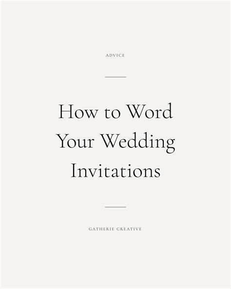 Wedding Invitations Etiquette by Gatherie Creative Wedding Invitation Wording Etiquette