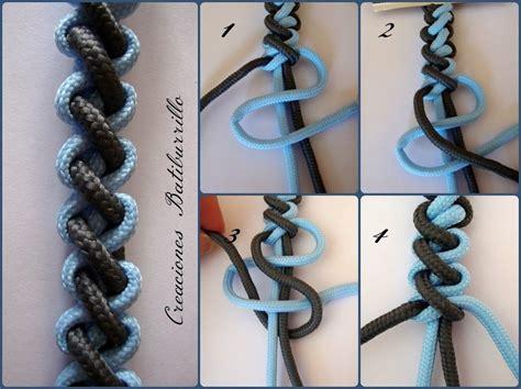 nudos de macrame aprendiendo macram 233 pulseras de nudo rizado paracord