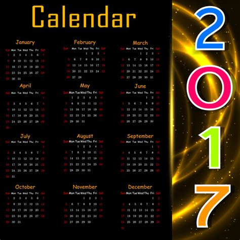 free calendar templates for adobe illustrator 2017 calendar design on black background free vector in