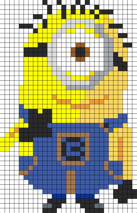 minion bead pattern minion perler bead pattern sprite pictures