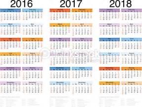Calendrier 2018 Vectoriel Gratuit Calendrier 201620172018 Clipart Vectoriel Thinkstock