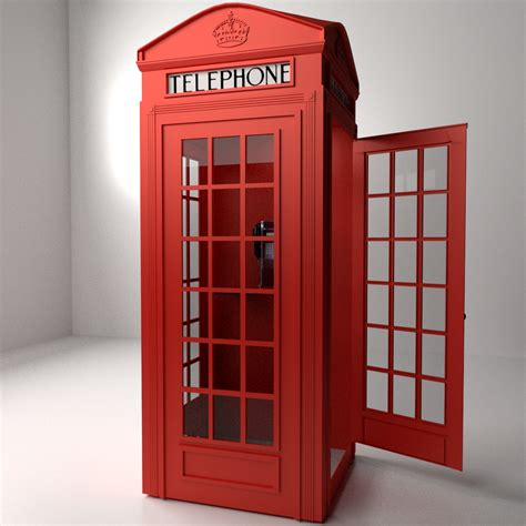 Red Phone Booth 3D Model .3ds .fbx .blend .dae   CGTrader.com