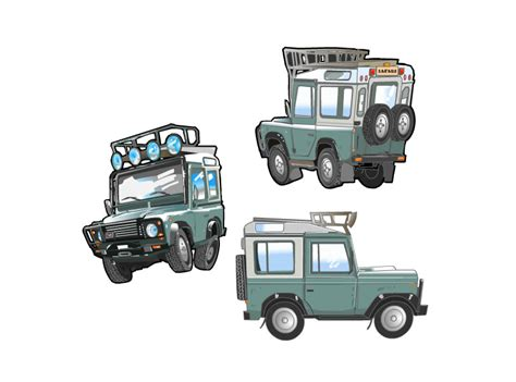 cartoon jeep front safari jeep front clipart 9