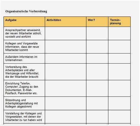 einarbeitungsplan vorlage muster und vorlage durchgehend