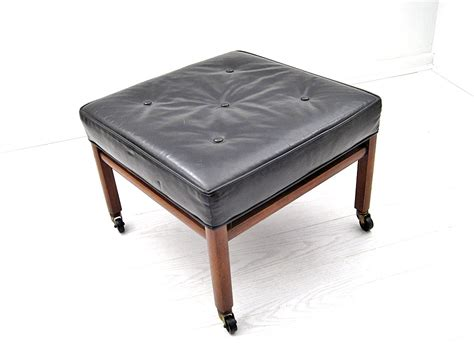 mid century leather ottoman mid century black leather square ottoman mix