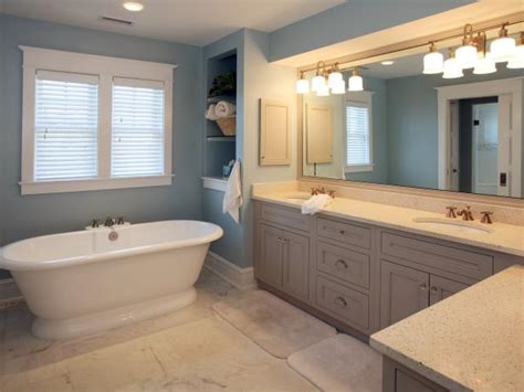 Blue Tub Bathroom by Pedestal Tub Designs Pictures Ideas Tips From Hgtv Hgtv