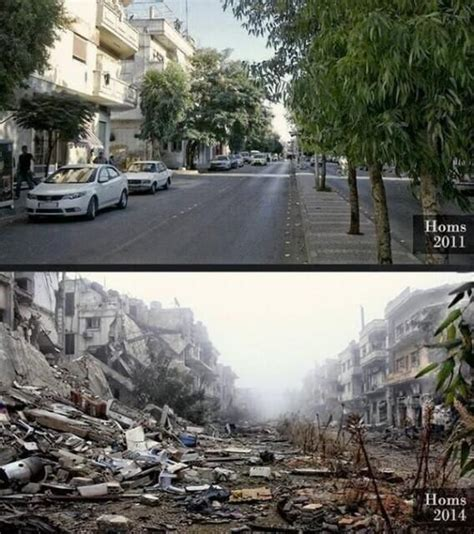 syria before and after a street in homs syria before and after the civil war