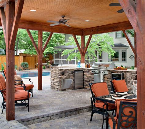 covered outdoor kitchen covered outdoor kitchen match with the backyard