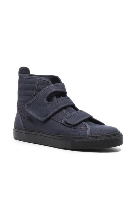 velcro sneakers raf simons high top velcro sneakers in gray lyst