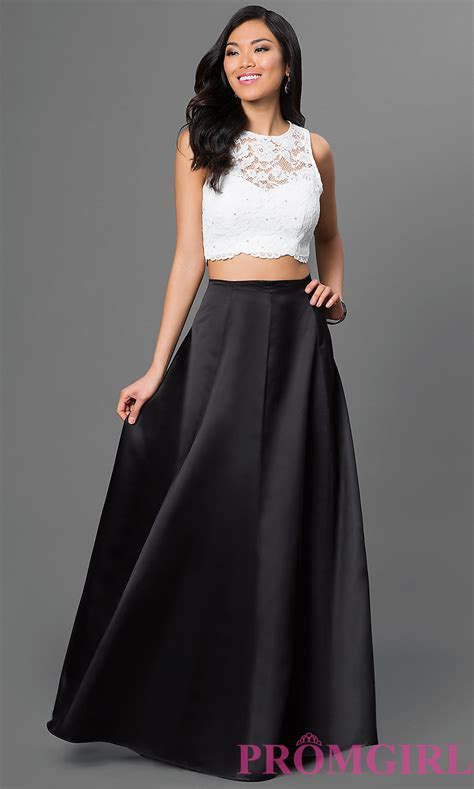 Top Dress two lace top prom dress by xscape promgirl