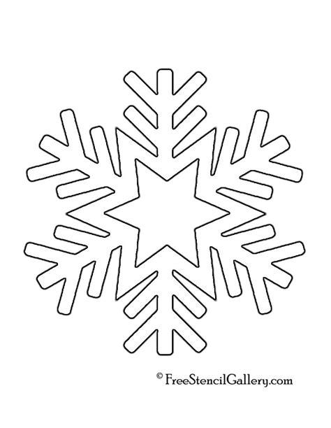 printable snowflake template snowflake stencil 08 crafts pinterest snowflake