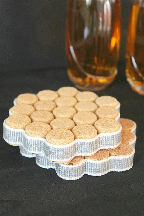 diy wine cork coasters tutorial diyideacentercom