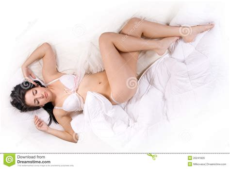 girl in bed girl sleep on bed stock photo image 20241820
