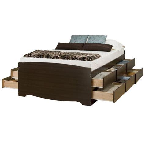 queen platform storage bed tall queen platform storage bed in espresso ebq 6212 k