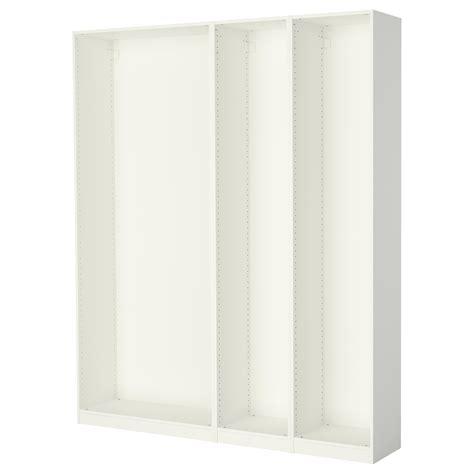 ikea pax wardrobe frame pax 3 wardrobe frames white 200x35x236 cm ikea