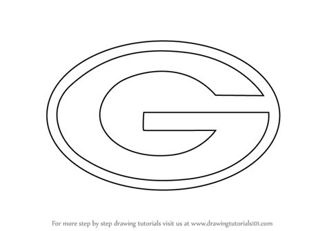 Step By Step How To Draw Green Bay Packers Logo Green Bay Packers Coloring Pages