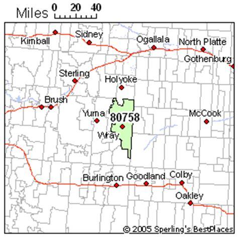 wray colorado map wray zip 80758 colorado