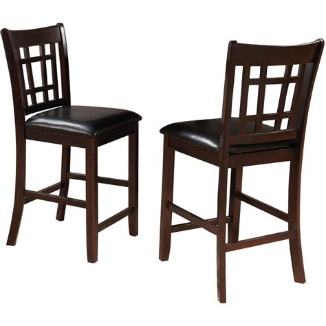 ahb salma slat back counter height chairs black set of