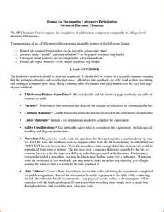 Chemistry Formal Lab Report Sample 8 Formal Lab Report Chemistry Example Financial