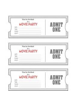 Ticket Template by Doc 626626 Tickets Templates