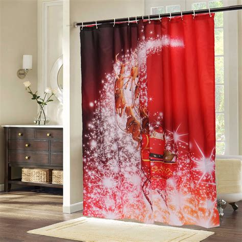 santa claus shower curtains 180x180cm christmas santa claus waterproof shower curtain