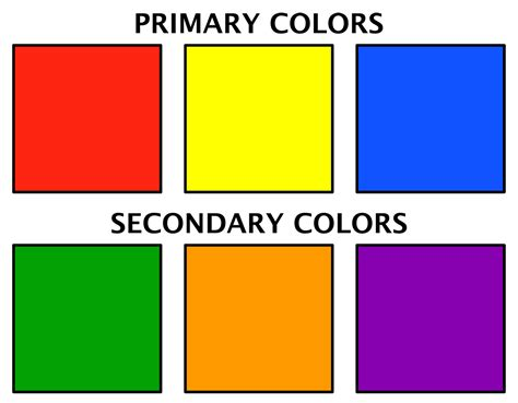what are the 3 primary colors mrs zink s