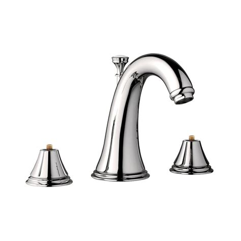 grohe grandera 8 in widespread 2 handle high arc bathroom faucet in polished chrome 20419000 grohe geneva 8 in widespread 2 handle 1 2 gpm bathroom
