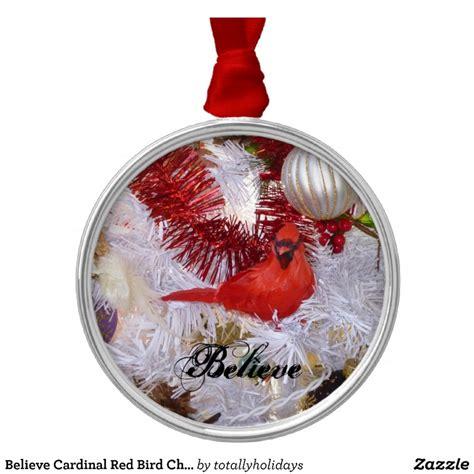 believe cardinal red bird christmas ornament zazzle