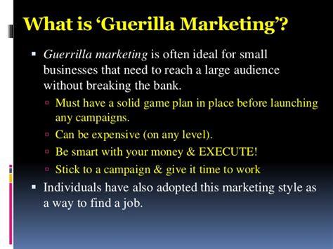 bank guerilla marketing hotel marketing sales