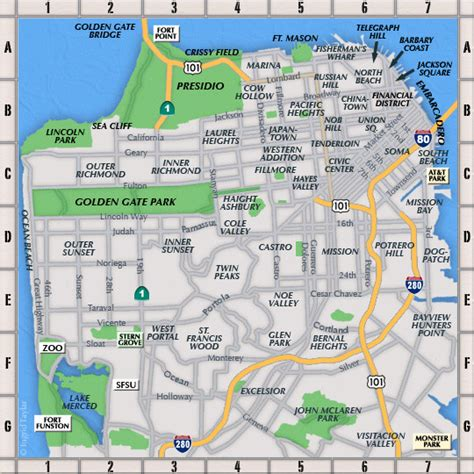 map of neighborhoods san francisco neighborhoods map san francisco mappery