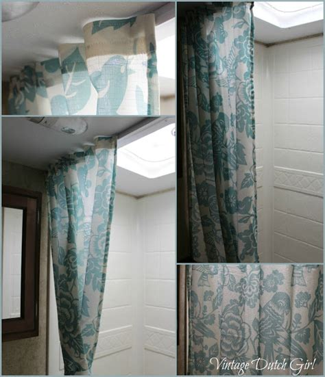 shower curtain for travel trailer vintage dutch girl travel trailer makeover part 1