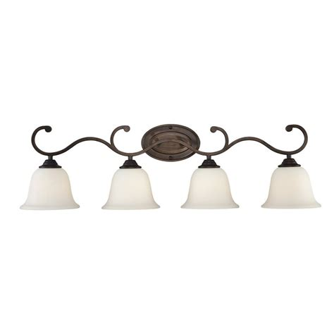 rubbed bronze bathroom lights shop millennium lighting 4 light rubbed bronze standard