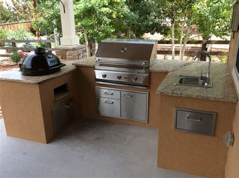 outdoor kitchen maker custom outdoor kitchen with pimo smoker grill hi tech