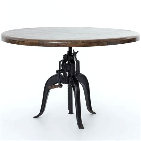 cast iron table adjustable dining table with cast iron base by four
