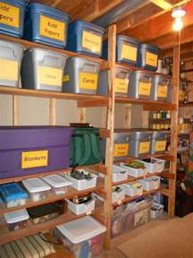 practical storage for an unfinished basement large readable signs labels diy unfinished